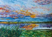 Sunset on the Tom River £40