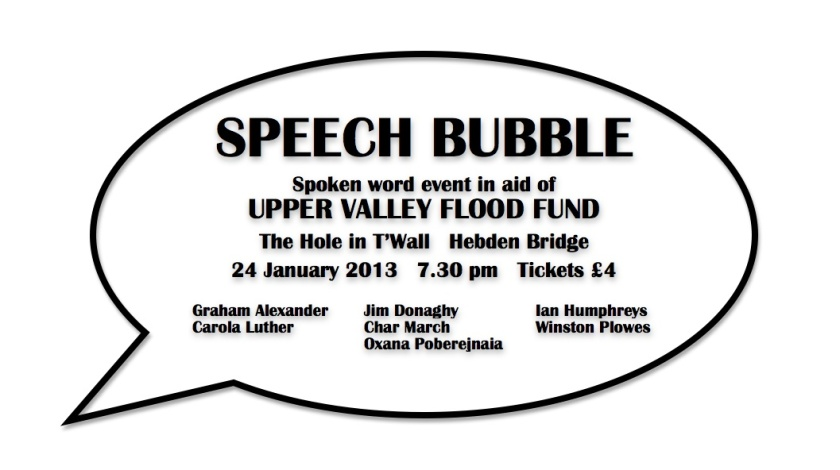Speech Bubble fundraiser