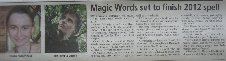 Todmorden News, 6 December 2012, page 19