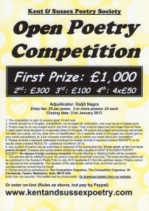 Kent and Sussex Poetry Society Competition