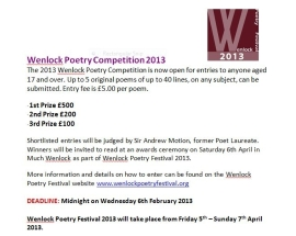 Wenlock Poetry Competitions