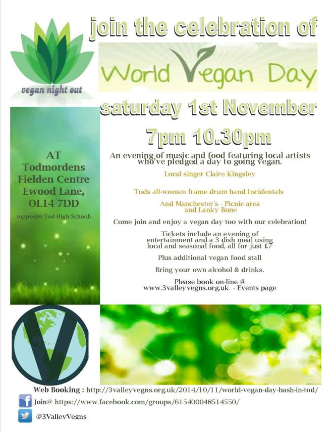 WVegan day event poster