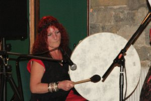 Sandi on Shamanic Drum